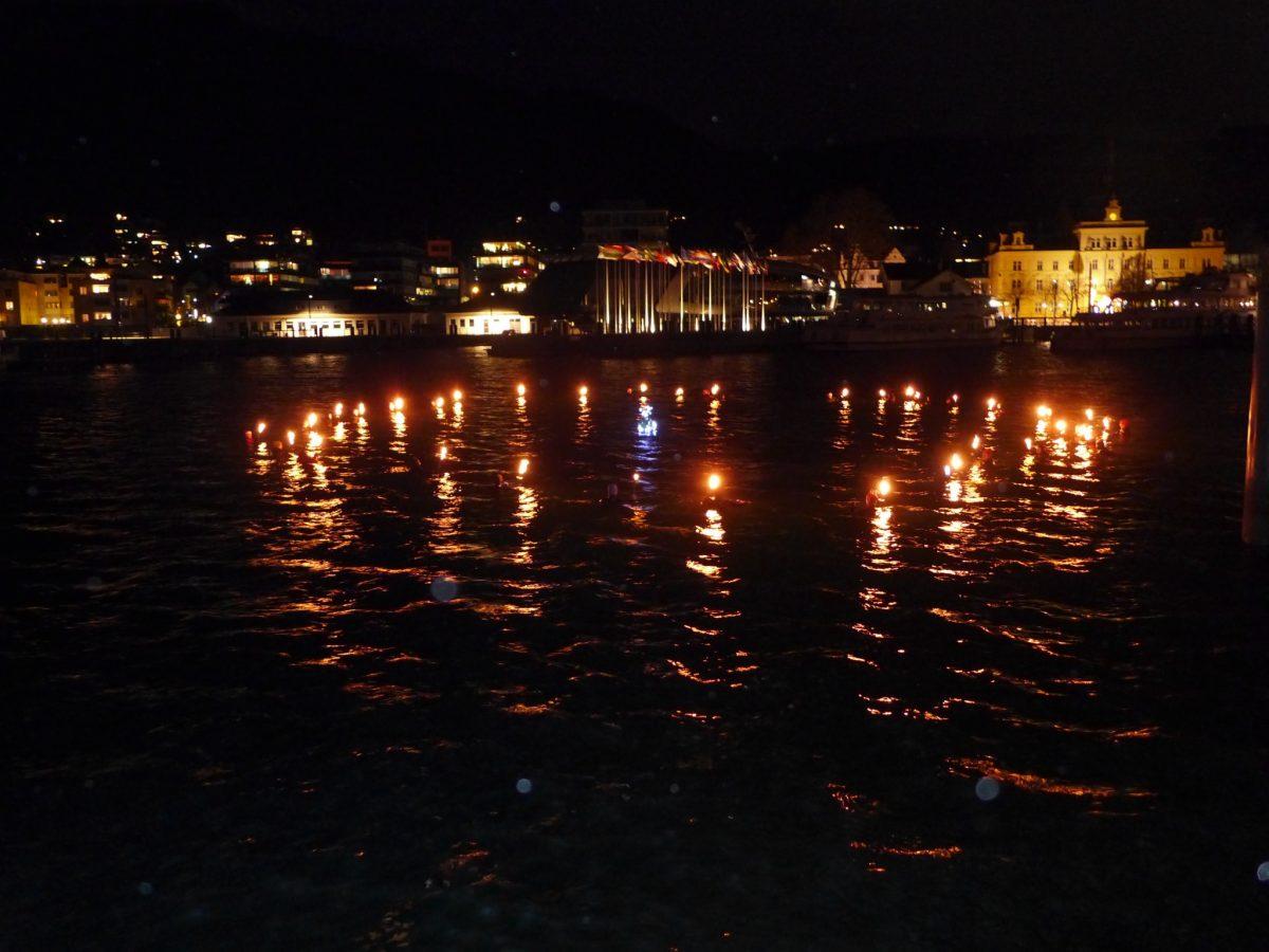 Weihnachtstauchen in Bregenz